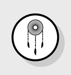 dream catcher sign flat black icon in vector image vector image