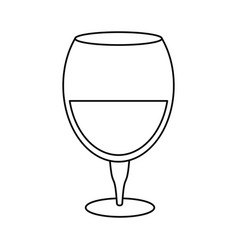 drinking glass wine thin line vector image