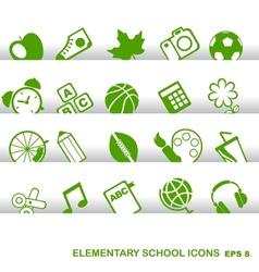 Education Icons basics elementary school vector