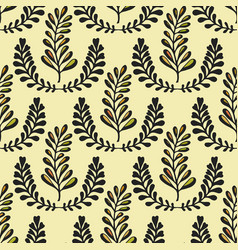 Ethnic seamless pattern with ornamental stylized vector