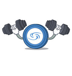 Fitness syscoin character cartoon style vector