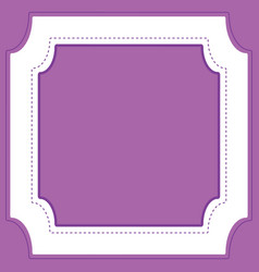 Frame template design with purple background vector