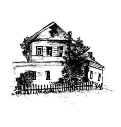 Hand drawn house vector