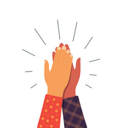 High five hand give 5 friend team icon friendship vector