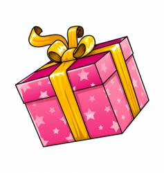 holiday gift present isolated vector image