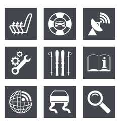 Icons for Web Design set 39 vector image