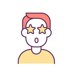 Impressed person rgb color icon vector