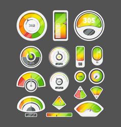 indicators measurement scale power colored score vector image