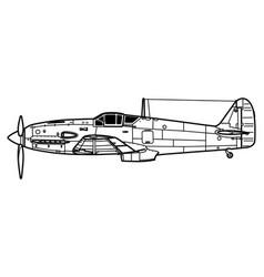 kawasaki ki-61 hien tony vector image