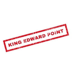 King Edward Rubber Stamp vector