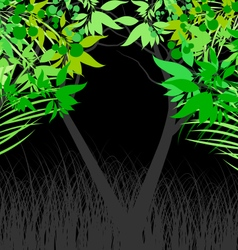 Leaf and nature on black vector
