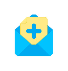 mail symbol envelope icon add envelope vector image