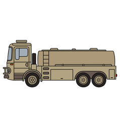 military tank truck vector image