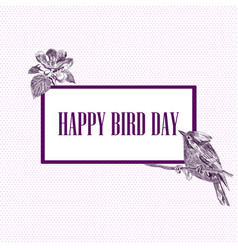 national bird day vector image