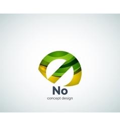 No concept prohibition logo template vector