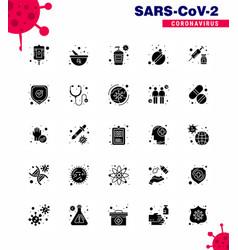 Novel coronavirus 2019-ncov 25 solid glyph icon vector