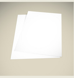 paper on a beige background mock up vector image