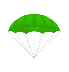 parachute in green design vector image