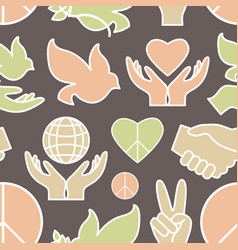Peace icons pattern vector