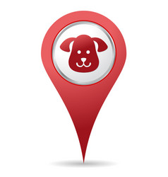 pets location icon vector image