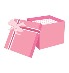 Pink gift box vector