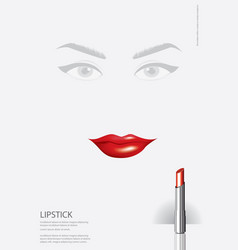 poster cosmetic lipstick vector image