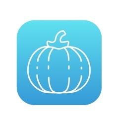 Pumpkin line icon vector image