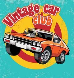 retro car club vector image