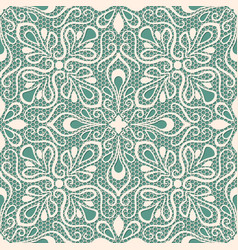 seamless lace pattern on blue background vector image