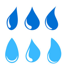 set of water drops stock vector image