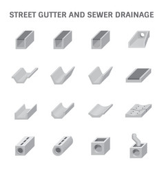 sewer gutter icon vector image