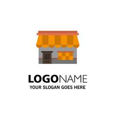 shop online market store building business logo vector image