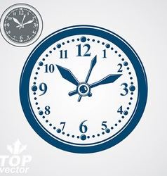 Simple wall clock with stylized clockwise vector image