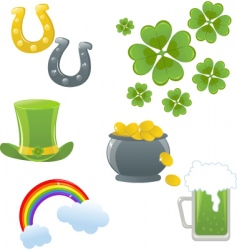 st Patrick collection vector image