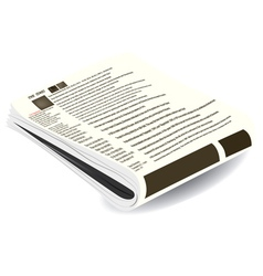stack of of newspapers vector image