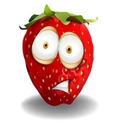 Strawberry with shocking face vector image