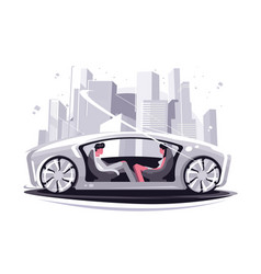 super car future vector image