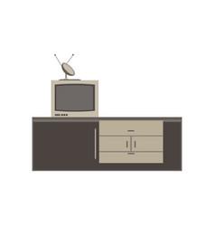 Tv unit television icon furniture screen design vector