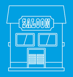 Western saloon icon outline style vector