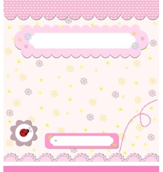 Baby card with ladybird vector image vector image