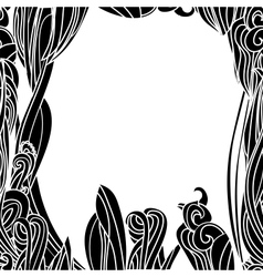 Floral Waves Lines Background vector image vector image