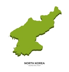 Isometric map of North Korea detailed vector image vector image