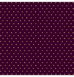 seamless pattern with dots of gold and dark vector image vector image