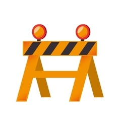 construction barricade barrier graphic vector image vector image