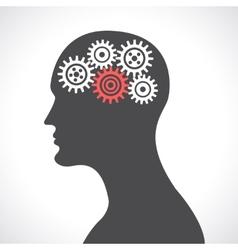 Gear head poster vector image