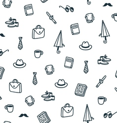 Gentlemans lunch time pattern vector image