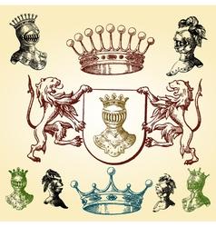 heraldry sketches vector image vector image