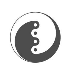 yin yang symbol of balance and harmony vector image vector image