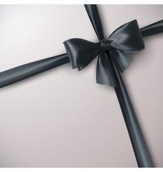 Black Bow And Ribbon vector image vector image