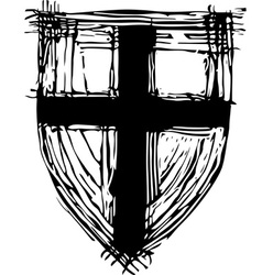 Old shield vector image vector image